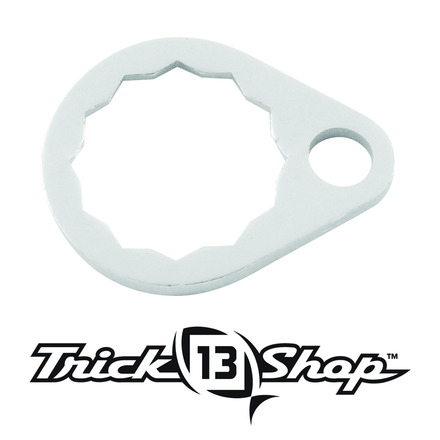 Trickshop Brushed Silver Handle Nut Lock picture