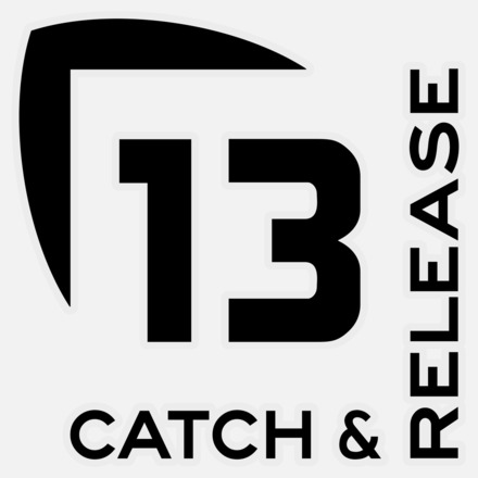13 Catch and Release Decal MEDIUM BLACK picture