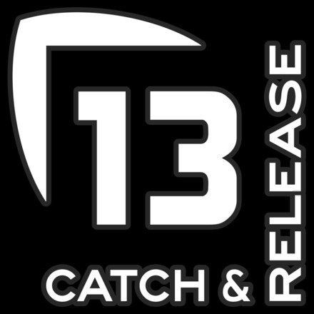 13 Catch and Release Decal Small WHITE picture