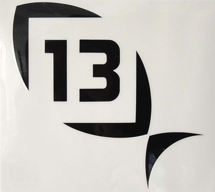 13 Black Decal Medium picture