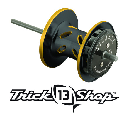 Trickshop Black/Gold Spool Assembly picture