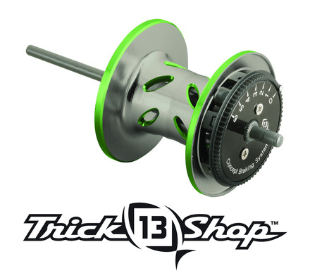 Trickshop Gunsmoke/Lime Spool Assembly picture