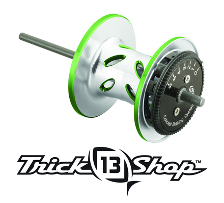 Trickshop Silver/Lime Spool Assembly picture