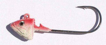 SAKANA JIGHEAD  Mustad Lazer Ultra Point 6/0 1 1/4oz Red Head picture