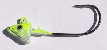 SAKANA JIGHEAD  Mustad Lazer Ultra Point 6/0 1oz Chartreuse Pearl picture