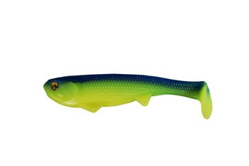 "Boom Boom Weedless Swimbait 6"" 1.4 oz #545 CHARTRUESE BLUE BACK picture"