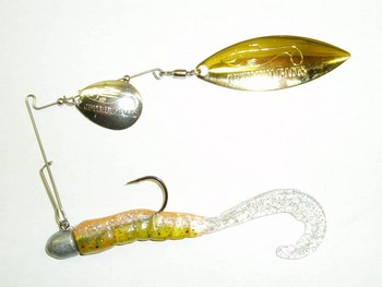 """3"""" Crashing Thunder Grub Tandem Willow  124 Hot Belly Bass picture"""