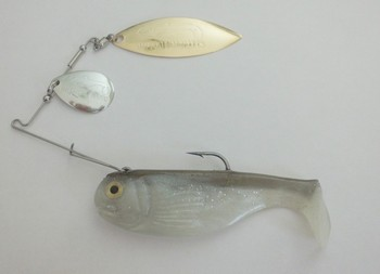 """4"""" Crashing Thunder / Tandem Willow#551 Golden Shiner /  Silver Gold blade picture"""
