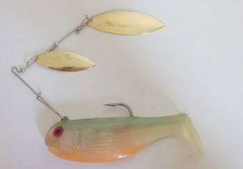 """3"""" Crashing Thunder / Double Willow #505 SunFish / Gold blade picture"""