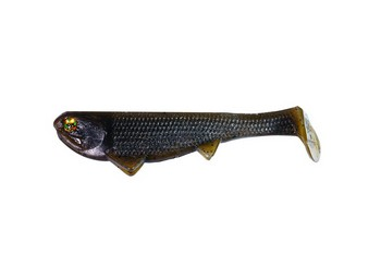 "Boom Boom Weedless Swimbait 6"" 1.4 oz #524 GREEN PUMPKIN picture"