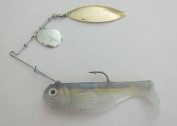 "3"" Crashing Thunder / Tandem Willow#555 Sexy Shad /  Silver Gold blade picture"