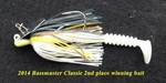"""4"""" Fat Rockvibe Shad  Glow Silver"""