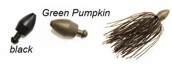 TUNGSTEN PUNCH SHOT SINKER Green Pumpkin  3/4oz picture
