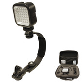 Camera Mount with LED Light & Case