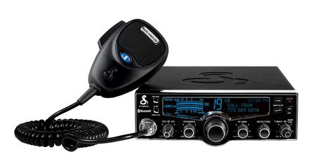 Radio CB professionnelle avec affichage LCD 4-couleur, Bluetooth, météo et Nightwatch Image