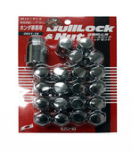 W65119 - CHROME - BULL LOCK 16 LUGS & LOCK SET: 12X1.5