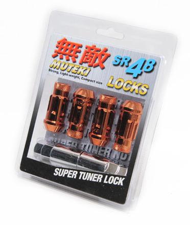 32901O - ORANGE - SR48 OPEN END LOCK SET: 12X1.25 picture