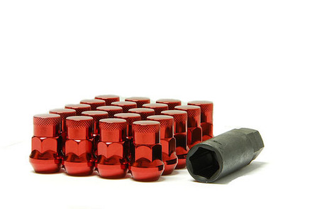 32925RP - RED - MUTEKI SR35 CLOSED END LUG & LOCK KIT: 12X1.25 picture