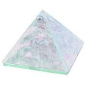 6-inch Glass Pyramid Box  Plain Crystal (each)