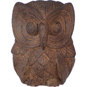 Volcanic Stone Statue  Owl Brown (each)