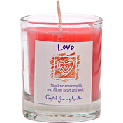 Soy Herbal Filled  Votive  Love   (each)