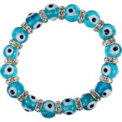 Glass Beads Elastic Bracelet  Evil Eye Protection