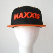 Black & Orange Snapback Cap with 3D Logo