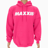 Sweatshirt-Hooded Pullover Bright Pink M