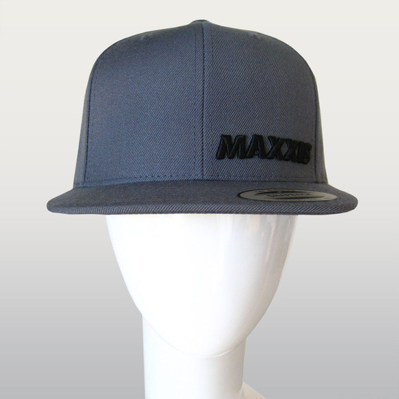 Charcoal Snapback Cap with 3D Logo picture