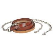 "1"" Chestnut Show Lead with 24"" Chain"