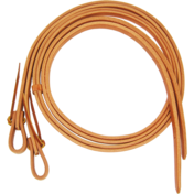 "5/8"" Harness Leather Split Rein with Waterloops"