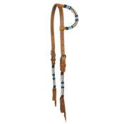 Navajo Blue Beaded One Ear Headstall
