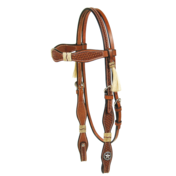 Scallop Cheek Headstall with Horsehair Tassels