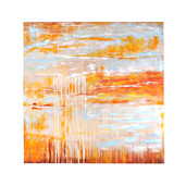 """36""""H Tan and Gold Canvas Square Wall Decor"""