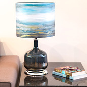 """22.25""""H Impressionist Collection - Hand painted Shade Table Lamp - Forever Blissful"""
