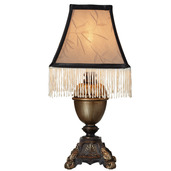 "The Downton Abbey Downstairs Collection 13.5"" H Accent Lamp with Fringe"