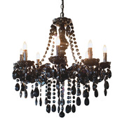 "24.5"" H Glam Dame Black Jeweled Chandelier"
