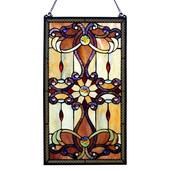 "26""H Stained Glass Brandi's Window / Wall Panel - Amber"