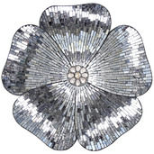 """22""""H Mosaic Glass Flower Wall Décor - Gray"""