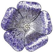 """22""""H Mosaic Glass Flower Wall Décor - Purple"""