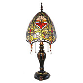 "30.5"" H Stained Glass Beaded Brianne's Table Lamp"