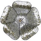 """22""""H Mosaic Glass Flower Wall Décor - Gold"""
