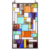 """23"""" H Stained Glass Mod Collage Window Panel"""