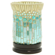 "6.75""H Bubble Up Mosaic Uplight LED Accent Lamp"