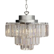"""16""""H Cascading 3 Tier Wireless Chandelier with Remote Control"""