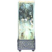 "12.9""H Studio Art Mercury Glass  Square Uplight Accent Lamp - Teal"