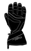 Mens Nylon Gloves Black