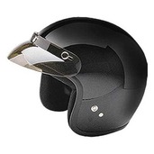 Open Face Helmet Black