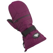 Youth Nylon/Leather Mitts Berry