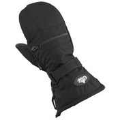Youth Nylon/Leather Mitts Black
